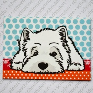 West Highland Terrier liegend - Big Polka