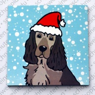 Xmas Cocker Spaniel black