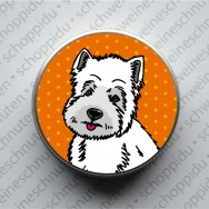 Minidose - Westie Orange Polka