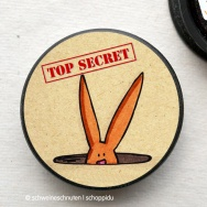 Rundmagnet - Top Secret Bunny