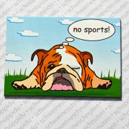 Englische Bulldogge no sports Wiese