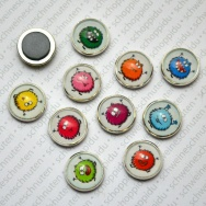 10er Set Monster - Minimagnete