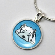 West Highland Terrier (blau)