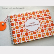 Retrodesign Orange Rezeptbuch